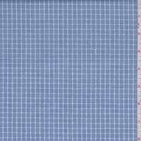 Slate Blue Check Cotton Shirting