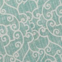 Teal/White Premier Fancy Trellis Printed Twill Decor Fabric