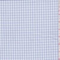 White/Plum/Blue Check Cotton Shirting