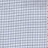 White/Navy Mini Check Cotton Shirting