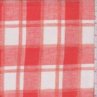 Tangerine/White Plaid Cotton Gauze