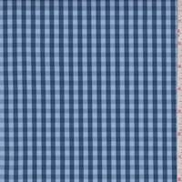 Dusty Blue/Midnight Check Cotton Shirting