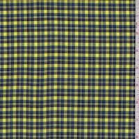 Bright Yellow Plaid Cotton