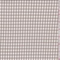 Cocoa/White Check Cotton Shirting