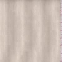 Dark Beige/Ecru Corded Stripe Cotton