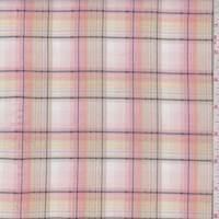 Beige/Pink Plaid Shirting