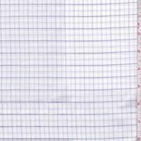 White/Violet Check Cotton Shirting
