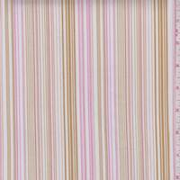White/Pink/Harvest Stripe Cotton