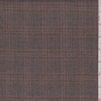 Mocha/Orange Plaid Suiting