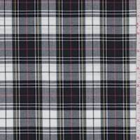 Black/White Tartan Plaid Suiting