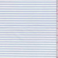 White/Blue Stripe Jersey Knit