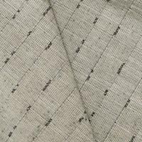 Gray/Taupe Textured Stripe Slub Woven Decorating Fabric