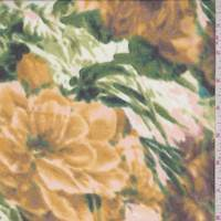 Ivory/Gold Bold Floral Chiffon