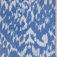 Royal/Whisper Blue Ikat Chiffon