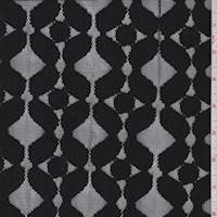 *2 1/2 YD PC--Black Geo Jacquard Mesh