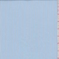 *2 YD PC--Light Blue/White Stripe Nylon Shirting