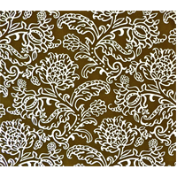 *7 YD PC--Designer Brown Paisley Floral Print Brown Decorating Fabric