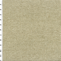 *2 YD PC--Beige/Ivory Chenille Grid Home Decorating Fabric