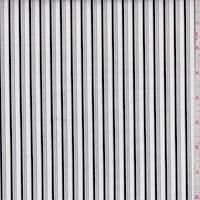 White/Black Stripe Cotton Poplin