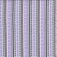"""Lavender Stripe """"Nibble"""" Print Cotton"""