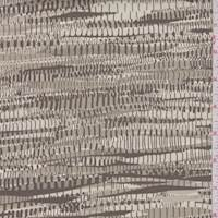 Timber/Taupe Seismic Stripe Print Cotton