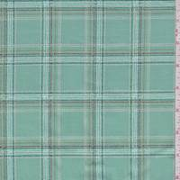 "Pale Jade ""Spotted Tartan"" Print Cotton"