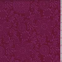 Cranberry/Pink Medallion Vine Print Cotton