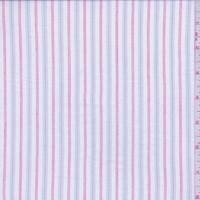 *3 YD PC--White/Grey/Red Stripe Shirting