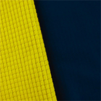 *4 YD PC--Navy/Yellow Waterproof Stretch Soft Shell Grid Fleece
