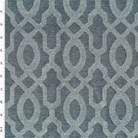 *1 YD PC--Gunmetal/Cool Gray Imperial Trellis Chenille Decor Fabric