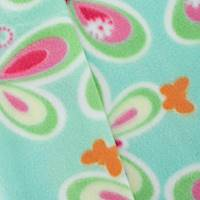 *1 YD PC--Misty Blue/Pink Multi Butterfly Printed Fleece
