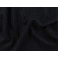 *2 YD PC--Black Mohair/Alpaca Blend Stripe Sparkle Jacketing