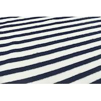 *1 1/2 YD PC--Navy Blue/Ivory Brushed Stripe Knit