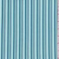 Teal Stripe Print Cotton