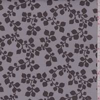 "Taupe Botanical ""Janie"" Print Cotton"