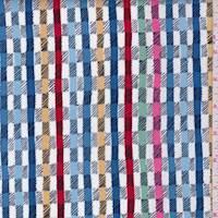"Denim Blue Multi ""Twill"" Print Cotton"