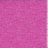 "Hot Pink ""Walking Texture"" Print Cotton"