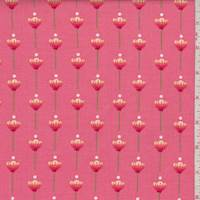 "Coral ""Let Kindness Grow"" Floral Print Cotton"
