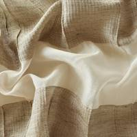 *2 1/2 YD PC--Taupe Brown/Beige Semi-Sheer Textured Stripe Decor Fabric