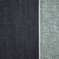 *1 1/4 YD PC--Night Navy Cotton Flannel Back Japanese Selvedge Denim