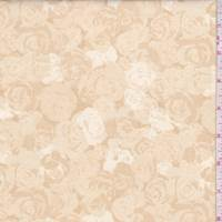 Golden Beige Rose Print Cotton