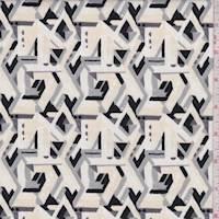 Cream Maze Print Cotton