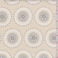 Cream Medallion Print Cotton