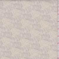 Ecru/Grey Texture Print Cotton