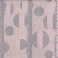 Peach Pink/Grey Eclipse Print Cotton