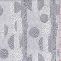 White/Grey Eclipse Print Cotton
