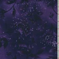 Amethyst Botanical Print Cotton