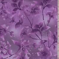 Magenta Botanical Print Cotton