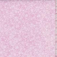 Pink Floral Vine Print Cotton
