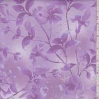 Orchid Purple Botanical Print Cotton